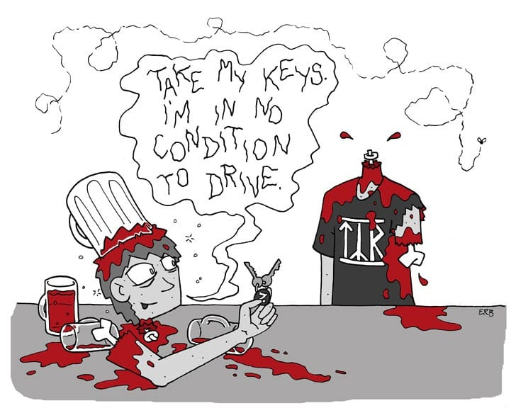 "First rule is…like ""Commute of the Living Dead"" on Facebook at: http://www.facebook.com/CommuteOfTheLivingDead . Second rule is…pick up ""Commute of the Living Dead: Volume 3″ and other zombie comics on ETSY at: https://www.etsy.com/shop/skasundheit . Third rule is, check out our new site at: http://www.commuteofthelivingdead.com/ . Fourth rule is…eat kosher (vegan) salami."