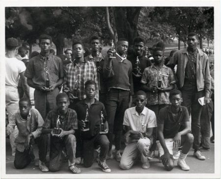 """A group of young men hold basketball trophies"" (circa 1960-1968) via Mayor John F. Collins records, City of Boston Archives"